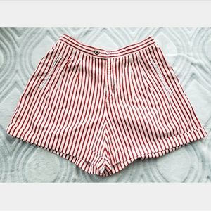 Vintage 80's Liz Sport Striped High Waisted Shorts